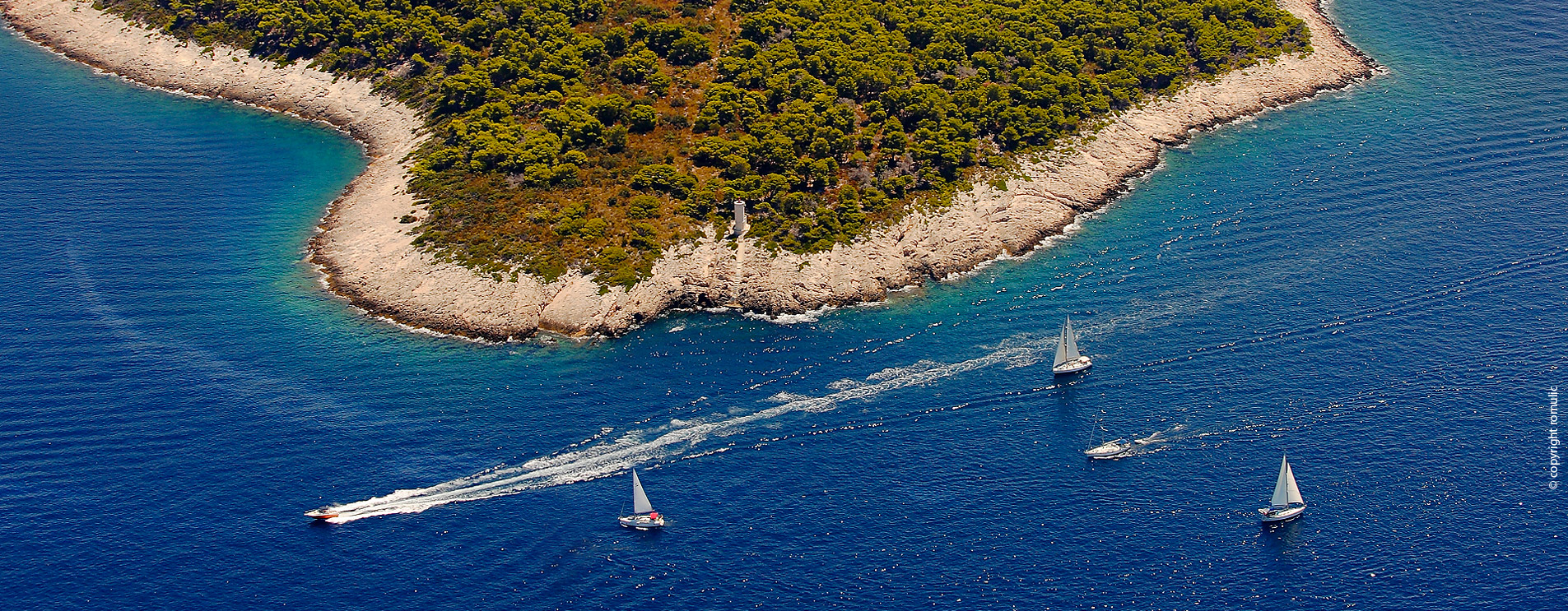 The Cape Pelegrin, the westernmost point of the island of Hvar